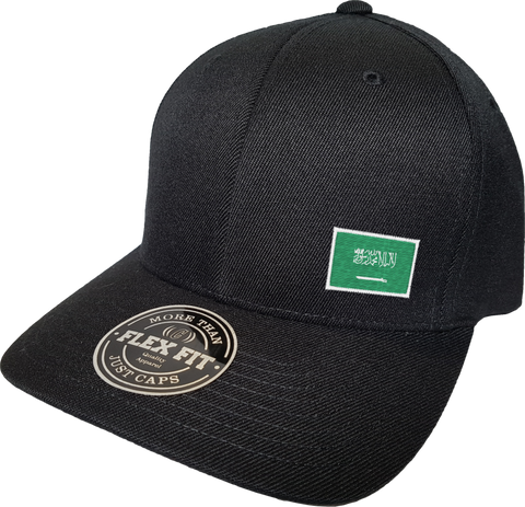 Saudi Arabia Cap Flex Fit FLS Black