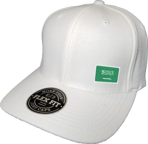 Saudi Arabia Cap Flex Fit FLS White