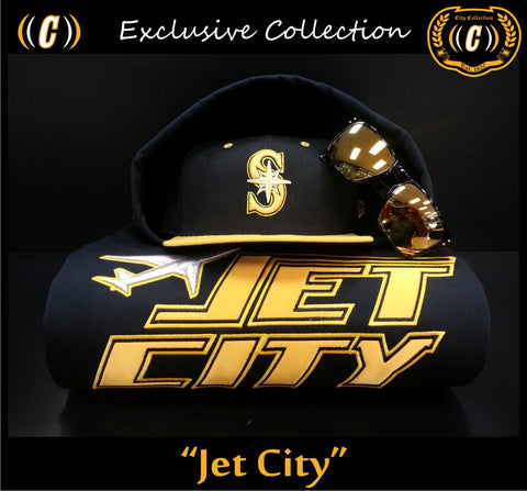 Vintage Jet City Thermal Hoodie