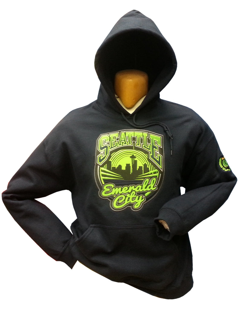 Seattle Emerald City Hoodie 17oz Cotton
