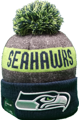 Seattle Seahawks 2016-2017 Sideline Knit Pom Toque