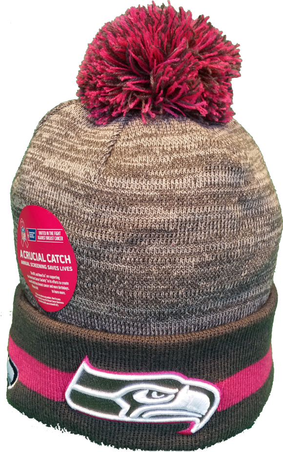 Seattle Seahawks Breast Cancer Awareness Sideline Fleece Pom Toque