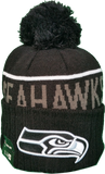 Seattle Seahawks Fleece Lined Black Pom Toque