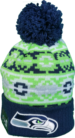 Seattle Seahawks Retro Chill Pom Toque