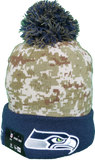 Seattle Seahawks Salute to Service Sideline Fleece Pom Toque