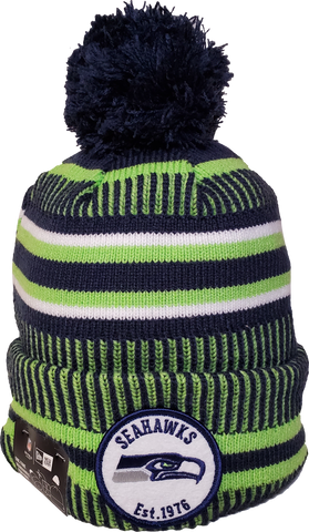Seattle Seahawks Knit Pom Toque NFL Sideline