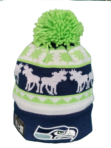 Seattle Seahawks NFL Holiday Pom Toque