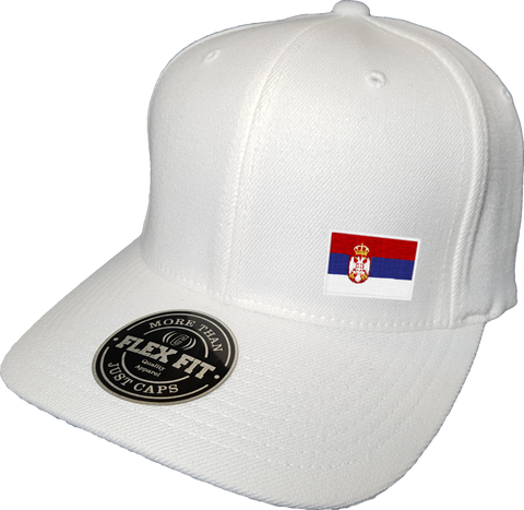 Serbia Cap Flex Fit FLS White