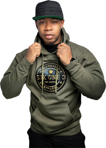 Six One 3 Benchmark Premium Hoodie Army Green Heather