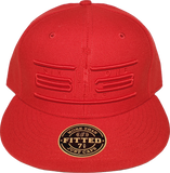 Six One 3 Cyber Fitted Hat Red Tonal