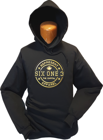 Six One 3 Benchmark Hoodie Black Metallic Gold