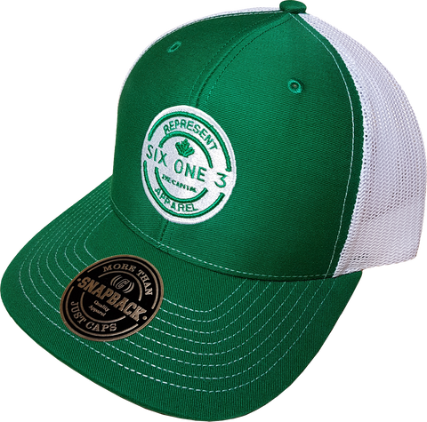 Six One 3 Benchmark Meshback Trucker Green White