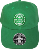 Six One 3 Benchmark Patch Dad Hat Green