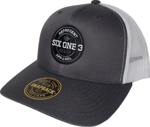 Six One 3 Benchmark Trucker Cap Charcoal White