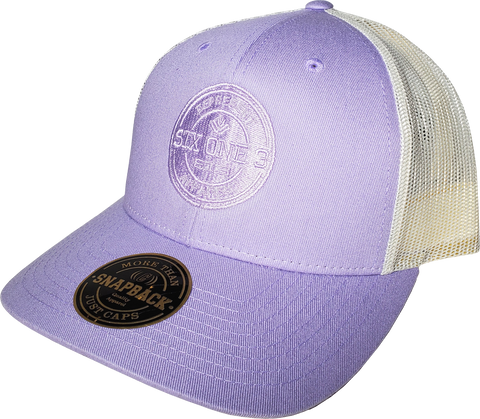 Six One 3 Benchmark Trucker Cap Lavender Birch