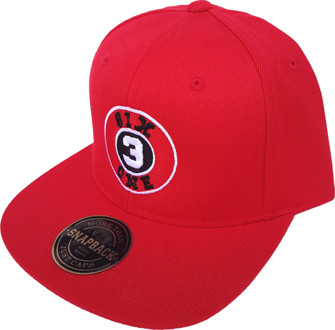 Six One 3 Clubhouse Exclusive Snapback Red Cap