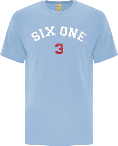 Six One 3 Code-X Stitched T-Shirt Powder Blue