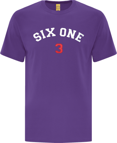 Six One 3 Code-X Stitched T-Shirt Purple