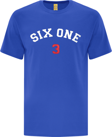 Six One 3 Code-X Stitched T-Shirt Royal Blue