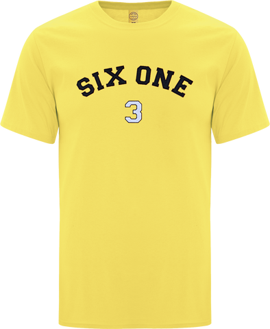 Six One 3 Code-X Stitched T-Shirt Yellow