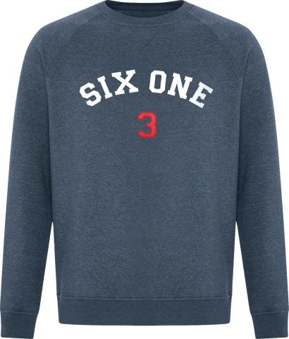 Six One 3 Premium Crew Neck Sweater Navy Heather