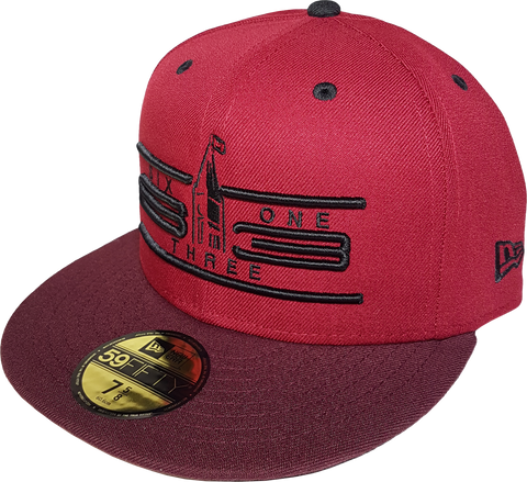 Six One 3 Cyber 59Fifty Fitted Cardinal Maroon