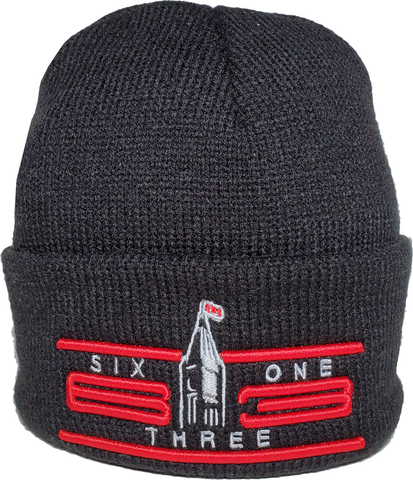 Six One 3 Cyber Basic Cuffed Beanie Toque Black