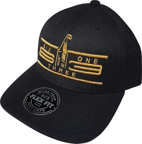 Six One 3 Cyber Black & Metallic Gold Flex Fit