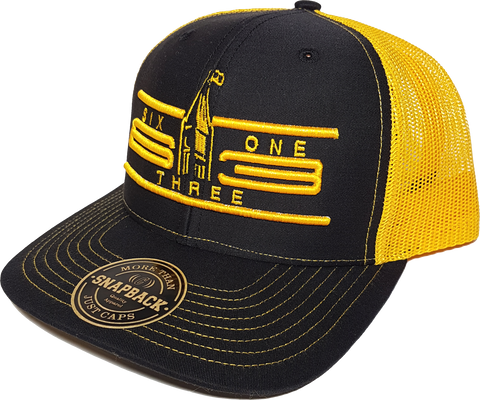 Ottawa Hat Six One 3 Cyber Trucker Black Gold