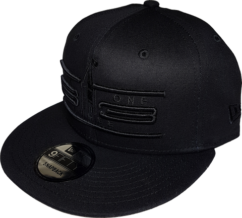 Six One 3 Cyber NE Snapback Cap Blackout