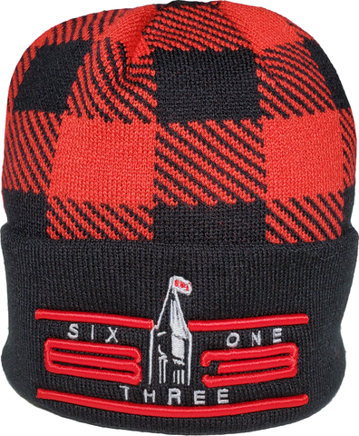Six One 3 Cyber Jacquard Knit Cuffed Toque Plaid