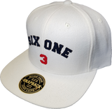 Six One 3 Ottawa Felt Snapback Cap White