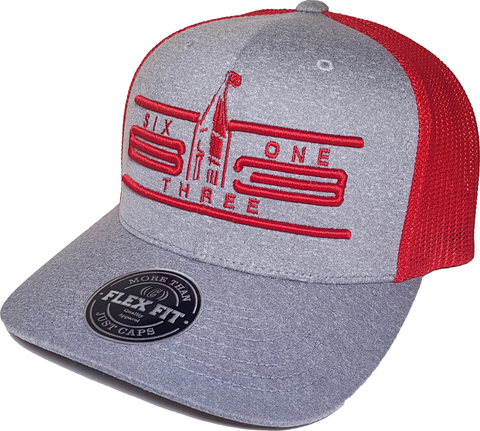 Ottawa Cap Represent Six One 3 Cyber Mesh Grey Red Flex Fit