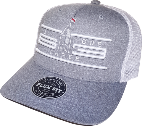 Ottawa Cap Represent Six One 3 Cyber Mesh Grey White Flex Fit
