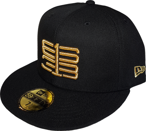 Six One 3 Interlok 59Fifty Fitted Black Metallic Gold