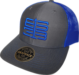 Six One 3 Interlok Mesh Back Trucker Cap Charcoal Royal