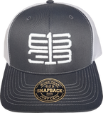 Six One 3 Interlok Mesh Back Trucker Cap Charcoal White