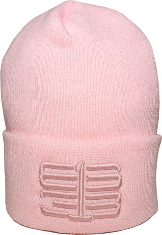 Six One 3 Interlok Basic Cuffed Beanie Toque Tonal Pink