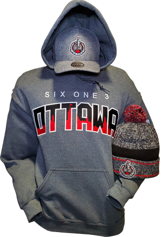 Six One 3 Ottawa Hoodie Shadow Hill Charcoal Heather