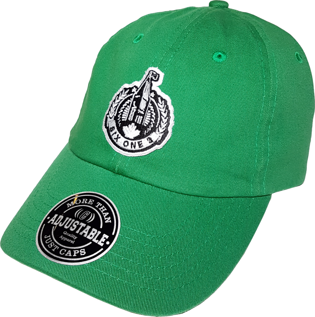 b92114bf1bd7a Six One 3 The Hill Patch Dad Hat Green – More Than Just Caps Clubhouse