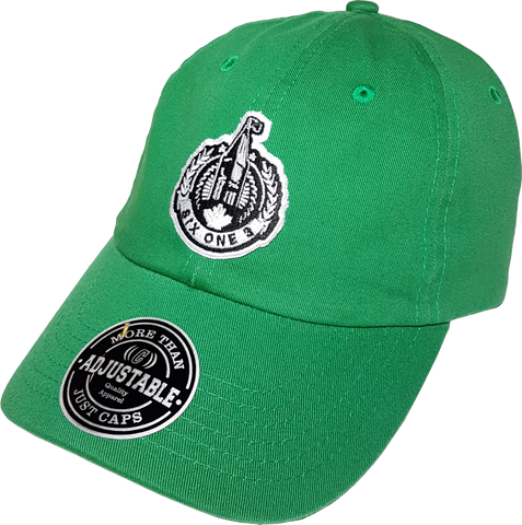 Six One 3 The Hill Patch Dad Hat Green
