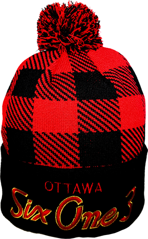 Six One 3 The Hill Plaid Pom Toque