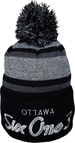 Six One 3 The Hill Pom Toque Heather Black