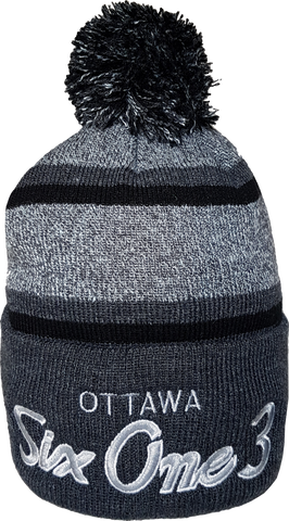 Six One 3 The Hill Pom Toque Heather Graphite