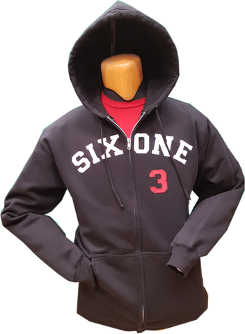 Six One 3 Clubhouse Exclusive Zip Hoodie Black