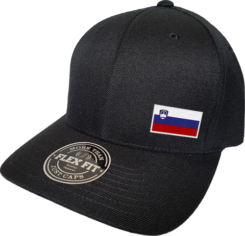 Slovenia Cap Flex Fit FLS Black