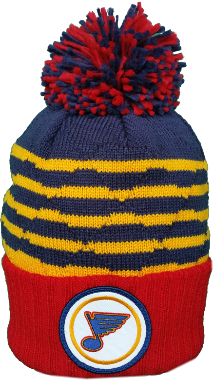 St. Louis Blues Vintage Mitchell & Ness High Five NHL Pom Toque