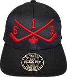 STICKS 613 Represent Flex Fit Black Red