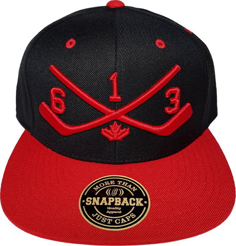 STICKS 613 Ottawa Snapback Black Red