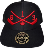STICKS 613 Represent Mesh Back Trucker Black Red
